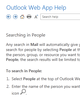 searching in people