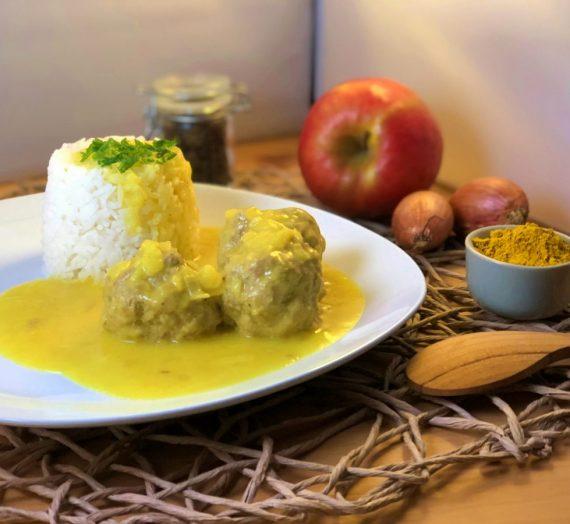 Rezept für boller i karry – Fleischbällchen in Currysoße