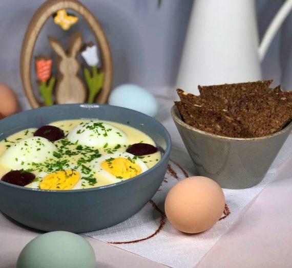 Rezept für skidne æg – Eier in dänischer Senfsoße