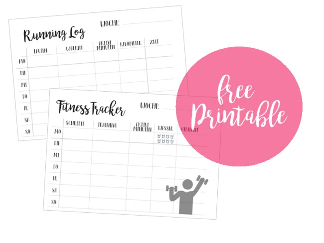 Free Printables: Fitness Tracker