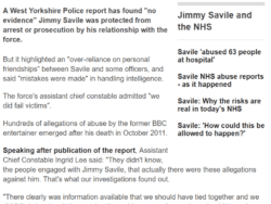 Screenshot of Jimmy Savile article