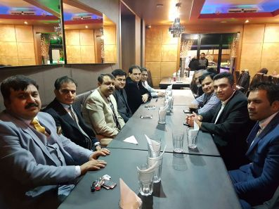 Renowned Pakistani journalist Asad Kharal with Community leaders and journalists in London 2017