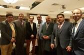 Shoaib Bin Aziz with community leaders at Pakistan Press Club event in Watford 2017