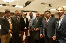 Shoaib Bin Aziz with community leaders at Pakistan Press Club event in Watford 2017