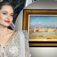 معروف اداکارہ انجلینا جولی نے سابق برطانوی وزیراعظم کی بنائی ہوئی پینٹنگ نیلام کردی
