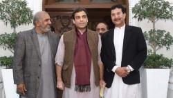 PMLn UK leader Haji Saif with Hamza