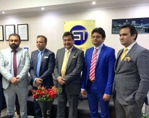 PTI UK officials with President Abdul Sattar Rana and Secretary General Aslam Bhutta (2)