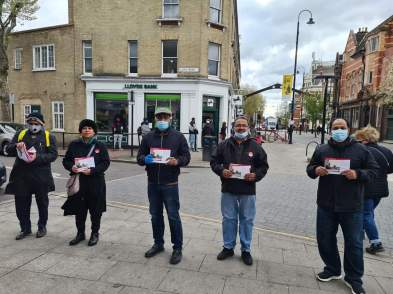 Election campaign in East London