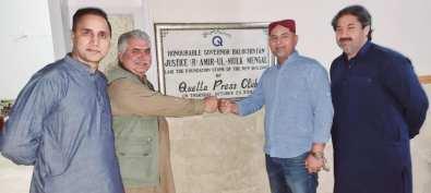 PPCUK Secretary Arshad Rachyal in Quetta Press Club