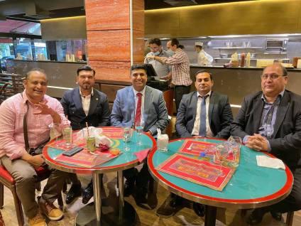 Lord Wajid with friends Zulfiqar Malik, Waqar Malik, Happy Khan in London after lockdown ease