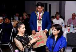 Mayor Rochdale at his charity dinner event