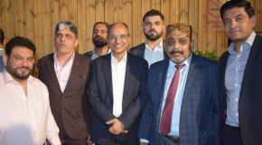 PPP UK leaders with Minister education Sindh Saeed Ghani on his visit to London