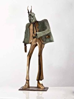Business hunter 70x30x40 cm 2001 bronze