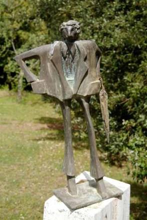 Citypeople 60x32x22 cm 2000 bronze