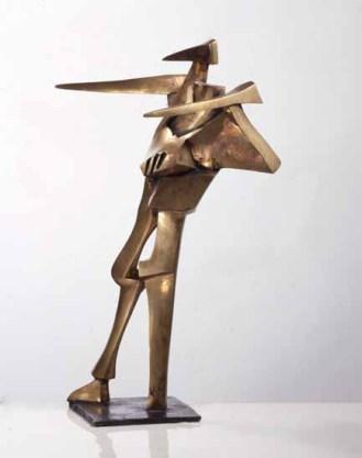 der zeiger 95x70x55 cm 1995 bronze
