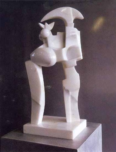 Guardiano 51x21x17 cm 1989 marmo bianco carrara