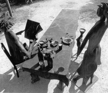 Tabola imbandita 170x600 cm 1978 eisen