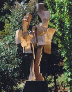 Uomo alato 200x60x80 cm 1996 bronze & iron
