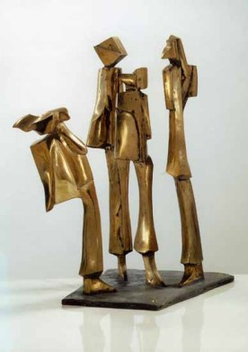 Upper discussions 50x50x60 cm 1995 bronze