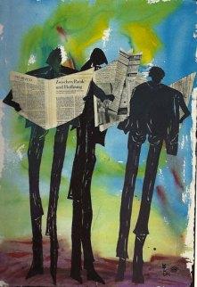 Napoli Zeitungsleser II 50x70 cm
