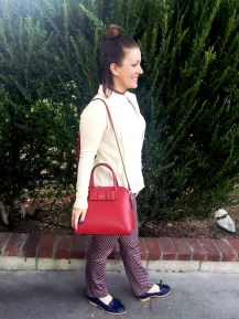 Kate Spade Purse, Tory Burch Sweater, Michael Kors Pants, Steve Madden Loafers