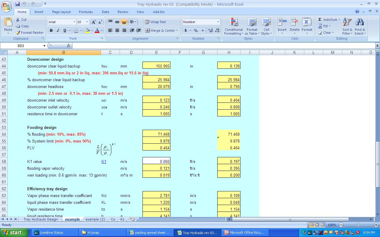 Heat Exchanger Design Heat Exchanger Design Excel Spreadsheet