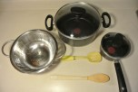 Have all of your utensils and pots ready before you start cooking.