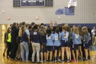 """All spring athletes sing the Knights anthem at the Spring Pep Rally at the gym. """"It makes spring teams feel reunited since we don't have a Pep Rally usually,"""" said senior Megan Lohner."""