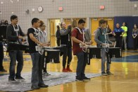 """Senior Sabrina Nieves and the band play their instruments in front of the whole school at the Spring Pep Rally. """"I was super nervous and scared that I was going to miss it up because my nerves get the best of me when we perform,"""" said Nieves"""