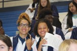 Sabrina Nieves and Sincere Powell pose while waiting to be dismissed to the auditorium. Photo Credit / Frankie Stevens