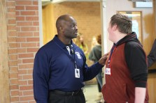 Ssebugawo regularly interacts with students at lunch. Photo Credit / Rachel Zook