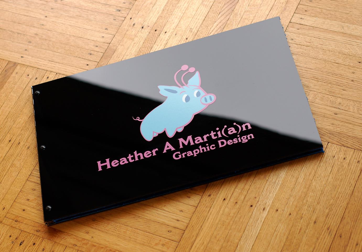Custom Graphic Designer Portfolio Book With Decal Treatment