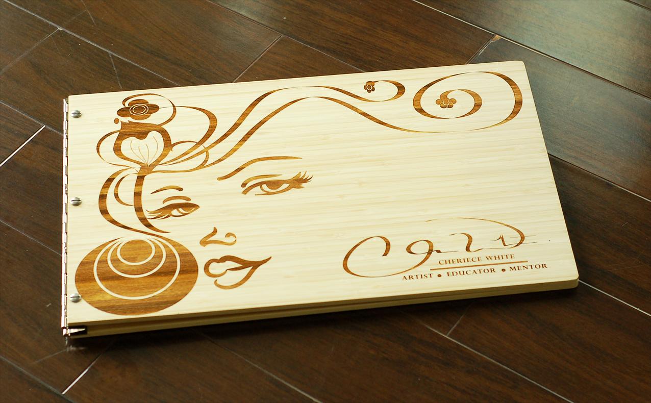 custom bamboo artist portfolio