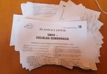 Mladí sa chopili šance a volili! A aj takto dopadli hlasovacie lístky SMER-u v ich rukách!