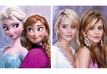 Týchto 20 celebrít sa podobá na animované postavičky spoločnosti Disney