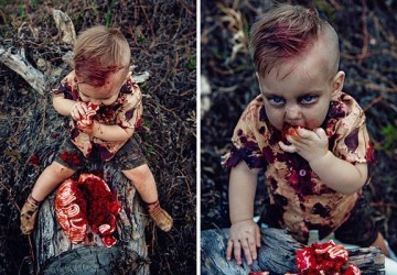 Matka nechala nafotiť svojho syna ako zombie. Keď zistíte dôvod, prečo to urobila, nebudete ju odsudzovať, ale obdivovať!