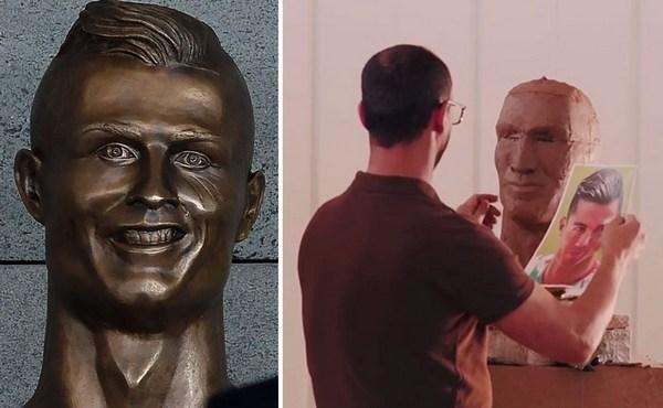 Foto: Pamätáte sa na nevydarenú bustu Ronalda? Jej tvorca dostal druhú šancu a takto vyzerá jeho reparát!