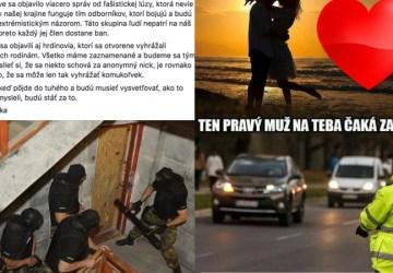 Funpage slovenskej polície vás dostane: vyhrážky, meme obrázky,drogy a zbrane