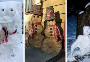 Snehuliak zo snehu vám príde nudný? Skúste si ho vyrobiť z dreva