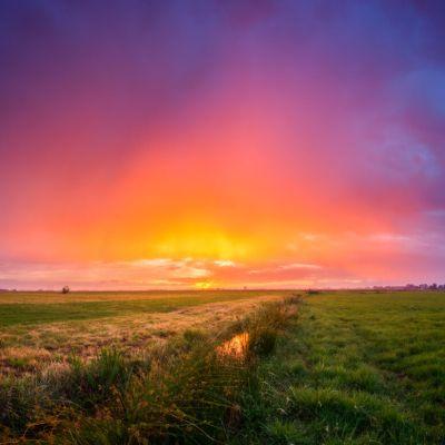 beautiful sunset polder mastenbroek