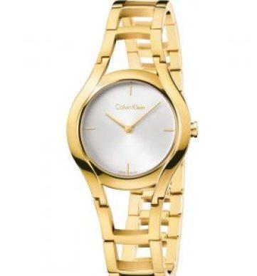 Reloj Class esqueletizado en color dorado con el dial blanco