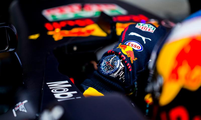 Tag Heuer Carrera 01 inspirado en RB13 de Red Bull Racing