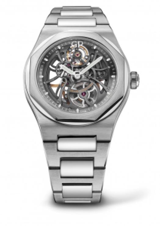 Reloj Girard-Perregaux de acero inoxidable con la caratula en forma esqueletizada