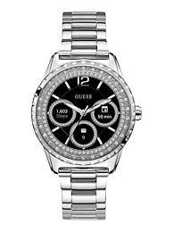 Reloj Guess en color plateado con el dial en color negro