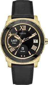 Reloj Guess en color negro con detalles en color dorado