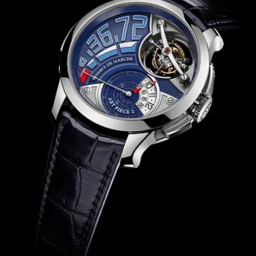 Reloj azul con negro arte