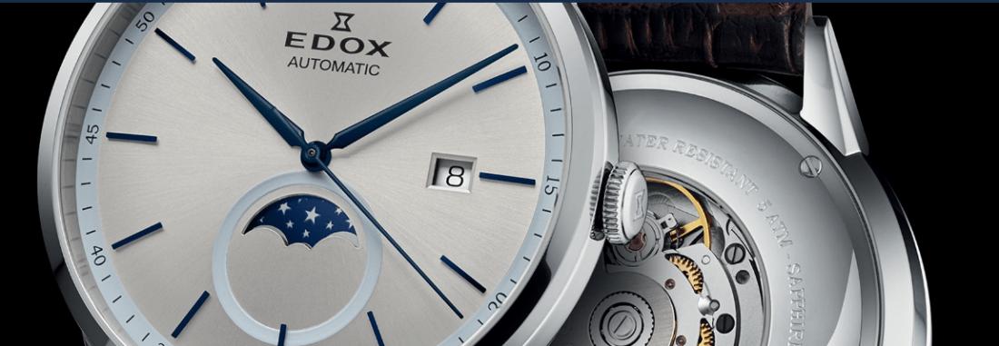EDOX colaboracion Artworth Brothers reloj blanco elegante