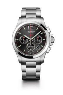 Reloj negro con detalles Longines modelo L3-717-4-56