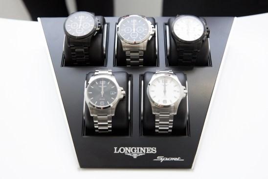 """Zoom a relojes Longines de muestra en el estreno de """"Back to the future of Quartz"""""""