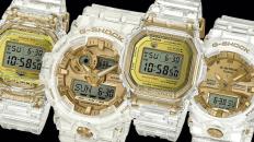 Relojes Casio de color blanco con colores dorado y amarillos